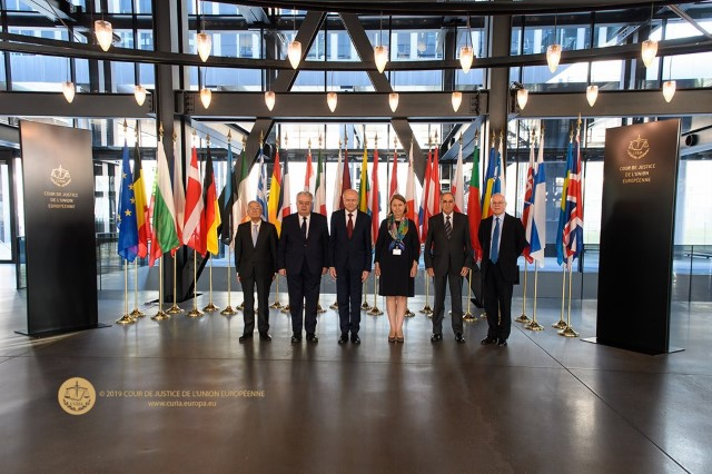 The President of the Constitutional Court during an institutional and working visit to the CJEU.